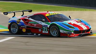 Photograph - Ferrari 488 Gte - 16 by Andrea Mazzocchetti