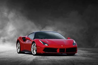 Digital Art - Ferrari 488 by Peter Chilelli