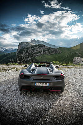 Photograph - Ferrari 488 Spider by George Williams