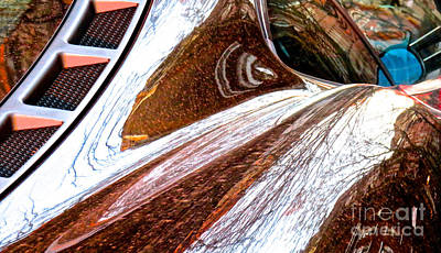 Amorphous Metal Photograph - Ferrari 5 Abstract by Ken Lerner