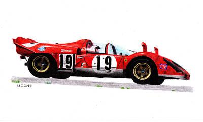 Ferrari 512s Mario Andretti 1970 Art Print by Ugo Capeto