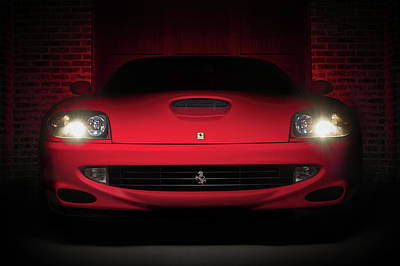 550 Digital Art - Ferrari 550 by Douglas Pittman