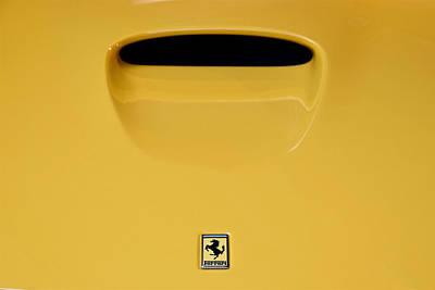 Photograph - Ferrari 550 Barchetta Pininfarina Front Badge Profile by ISAW Company
