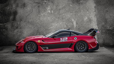 Digital Art - Ferrari 599 Xx by Douglas Pittman