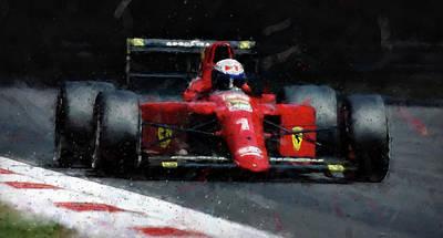Painting - Ferrari 641 F1 - 02 by Andrea Mazzocchetti