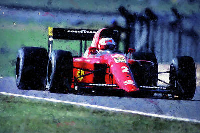 Painting - Ferrari 641 F1 - 03 by Andrea Mazzocchetti