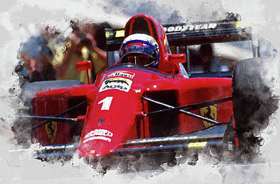 Painting - Ferrari 641 F1 - 04 by Andrea Mazzocchetti