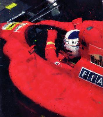 Painting - Ferrari 641 F1 - 05 by Andrea Mazzocchetti