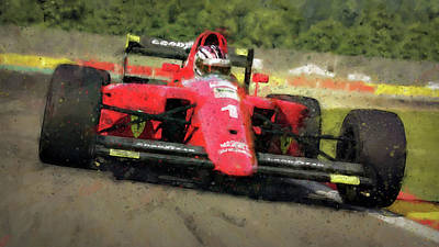 Painting - Ferrari 641 F1 - 06 by Andrea Mazzocchetti