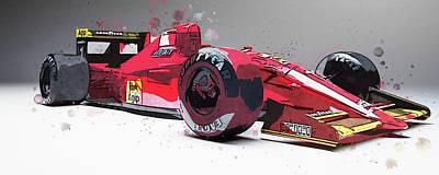 Painting - Ferrari 641 F1 - 07 by Andrea Mazzocchetti