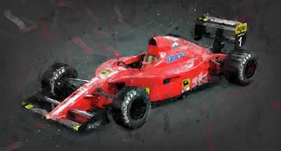 Painting - Ferrari 641 F1 - 08 by Andrea Mazzocchetti