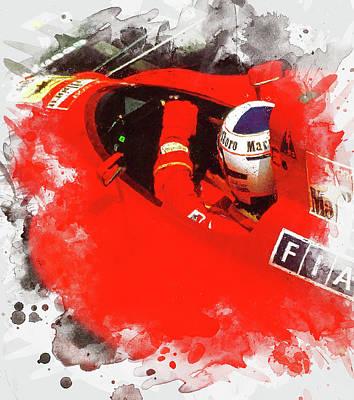 Painting - Ferrari 641 F1 - 09 by Andrea Mazzocchetti