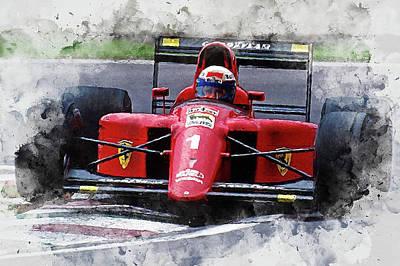 Painting - Ferrari 641 F1 - 10 by Andrea Mazzocchetti