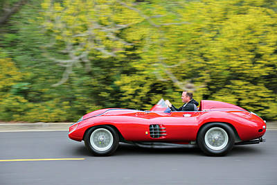 Photograph - Ferrari 750 Monza At Speed by Steve Natale