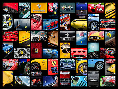 Photograph - Ferrari Art -01 by Jill Reger