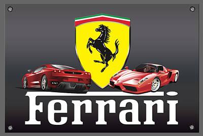 Photograph - Ferrari Logo by Carlos Diaz