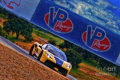 Photograph - Ferrari Challenge 458 Martin Burroues by Blake Richards