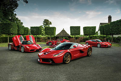 Photograph - Ferrari Collection by George Williams