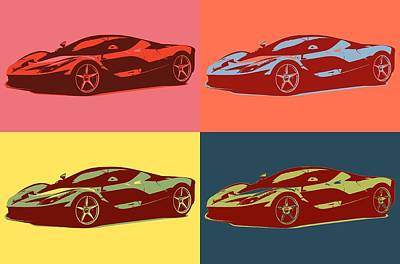 Mixed Media - Ferrari Color Pop by Dan Sproul