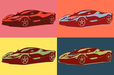 Mixed Media - Ferrari Color Pop by Dan Sproul