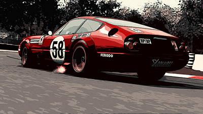 Painting - Ferrari Daytona - 365 Gtb4 by Andrea Mazzocchetti
