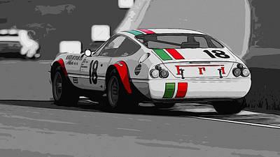 Ferrari Daytona 365 Gtb4 - Italian Flag Livery Art Print by Andrea Mazzocchetti