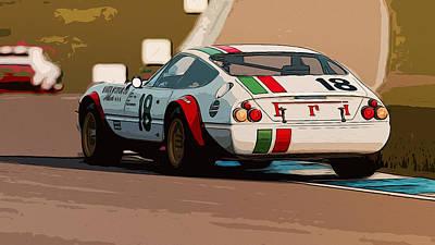 Painting - Ferrari Daytona - Italian Flag Livery by Andrea Mazzocchetti