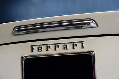Photograph - Ferrari 246 Dino Gt Rear Badge Profile by ISAW Gallery