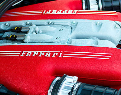 Photograph - Ferrari Engine by Rospotte Photography