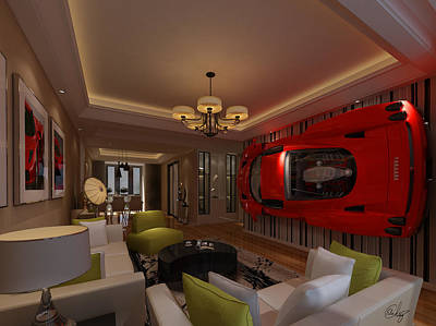 Ferrari Enzo Art Wall Art Print by Edier C