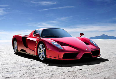 Sportscar Digital Art - Ferrari Enzo by Douglas Pittman