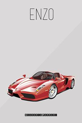 Painting - Ferrari Enzo Iconic Poster by Beautify My Walls