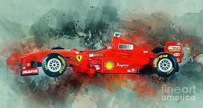 Mixed Media - Ferrari F1 by Ian Mitchell