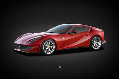 Racing Car Photograph - Ferrari F12 by Mark Rogan