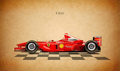 Formula Car Photograph - Ferrari F300 by Mark Rogan
