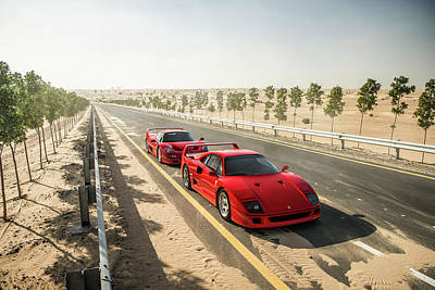Photograph - Ferrari F40 And F50 by George Williams