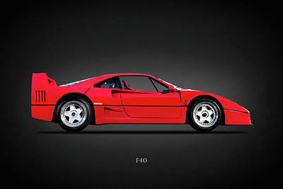 Photograph - Ferrari F40 by Mark Rogan