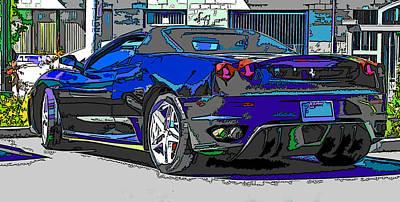 Ferrari F430 Spyder Art Print