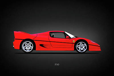 Photograph - Ferrari F50 by Mark Rogan