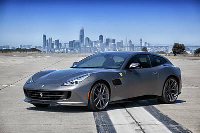 Photograph - #ferrari #gtc4lusso #print by ItzKirb Photography