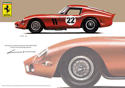 Ferrari 250 Gto Digital Art - Ferrari Gto 250 1963  by Luc Cannoot