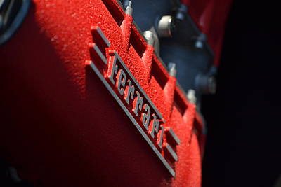 Photograph - Ferrari Intake At Sunrise by Dean Ferreira