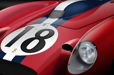Circuit Drawing - Ferrari by Jack Kruyne