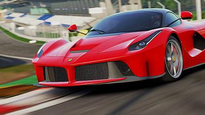 Photograph - Ferrari, Laferrari - 3 by Andrea Mazzocchetti