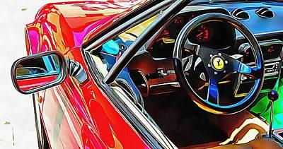 Photograph - Ferrari Mondial Through The Window by Dorothy Berry-Lound