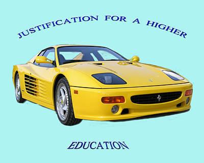 Photograph - Ferrari Motivational Poster by Jack Pumphrey