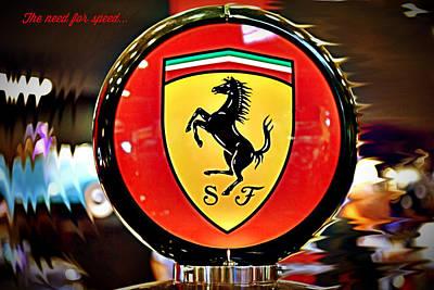 Photograph - Ferrari - Need For Speed by Richard Gehlbach