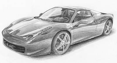 Drawing - Ferrari by Nolan Clark