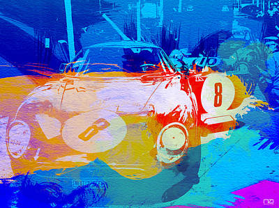 Watercolor Photograph - Ferrari Pit Stop by Naxart Studio