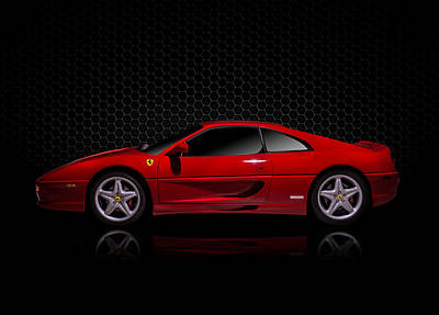 Luxury Digital Art - Ferrari Red - 355  F1 Berlinetto by Douglas Pittman